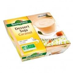Dessert soja caramel