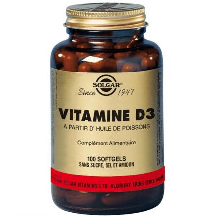 Vitamine D3 400 UI 100 gélules