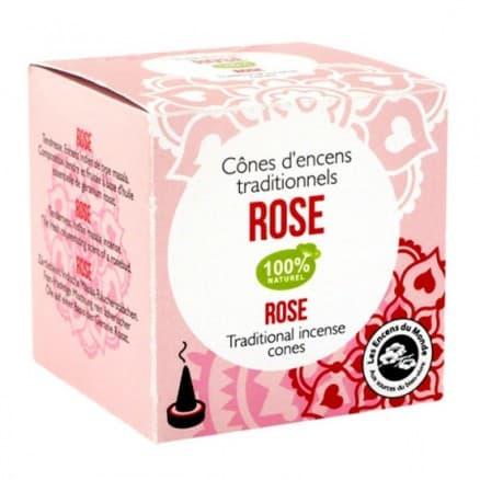 Cônes d'encens Indien Rose