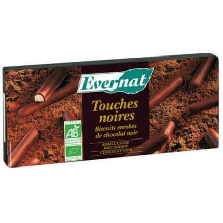 Biscuits enrobés de chocolat noir