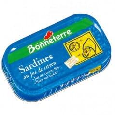 Sardine au jus de citron sans sel