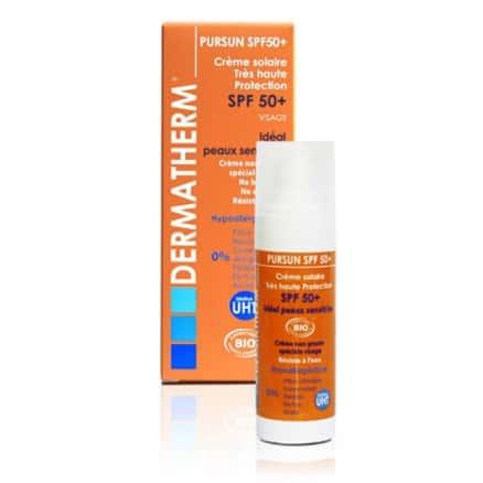 Crème solaire SPF50+ visage