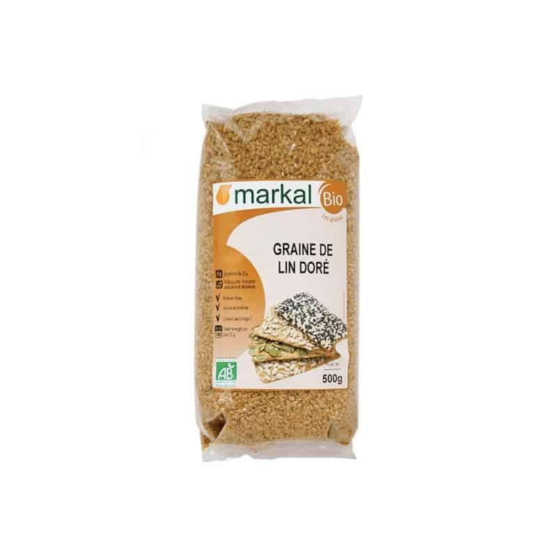 Graines de lin dor e 500 g markal - Moulin graines de lin cuisine ...