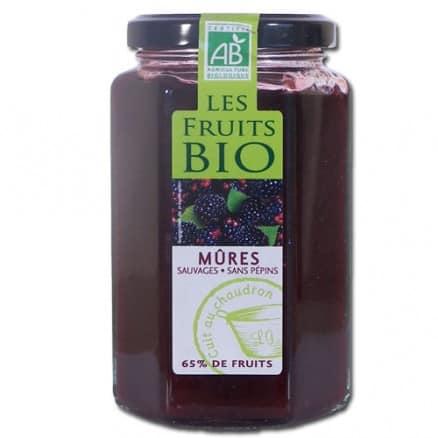 Les fruits bio Confiture de Mûres Sauvages 300 g