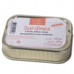 Sardines Huile d'Olive Piments & Aromates
