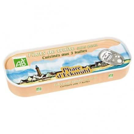 Filets de truite sans peau aux 3 huiles