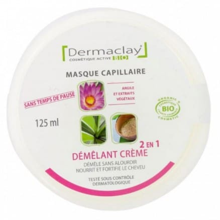 Dermaclay Masque capillaire démêlant 2 en 1 125 ml