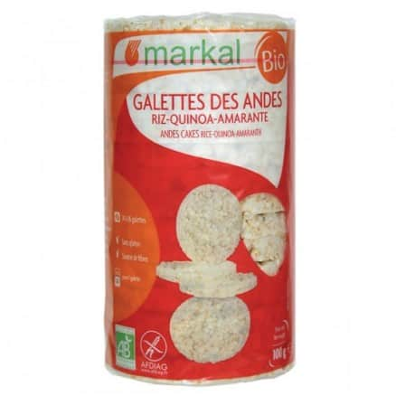 Markal Galettes des Andes Riz Quinoa Amaranthe 100 g