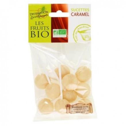 Les fruits bio Sucettes Caramel 100 g