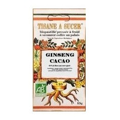 Tisane à sucer ginseng cacao