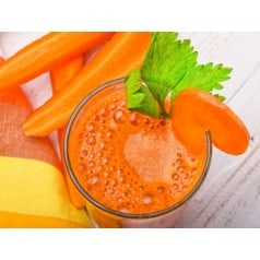 Délice cru chaud carotte gingembre
