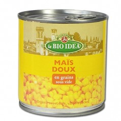 Maïs doux bio en grains sous vide