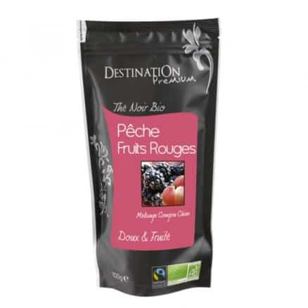 Destination Thé Noir Pêche Fruits rouges n104 100 g