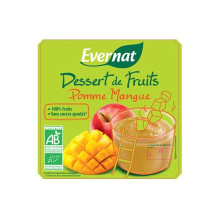 Dessert de fruits Pomme Mangue