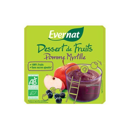 Dessert de Fruits Pomme Myrtille