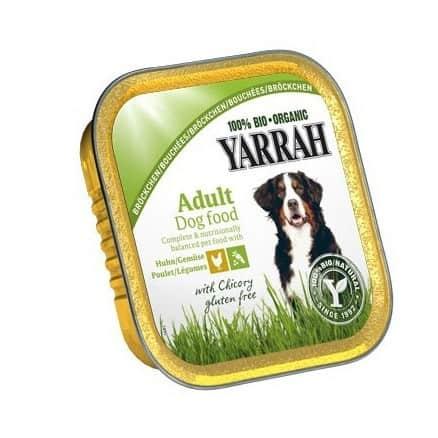 Yarrah Bouchées Poulet & Chicorée pour Chien Barquette 150 g