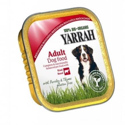 Yarrah Bouchées au Boeuf  pour Chien Barquette 150 g