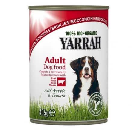 Yarrah Bouchées au Boeuf pour Chien Boîte 405 g
