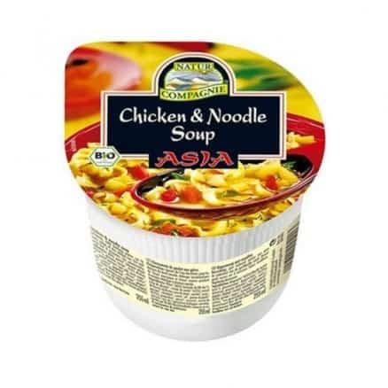 Soupe Asiatique de Poulet aux Pâtes