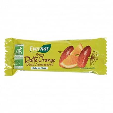 Barre énergie Datte et orange Evernat
