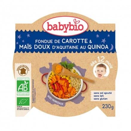 Fondue de Carotte & Maïs Doux d'Aquitaine au Quinoa babybio