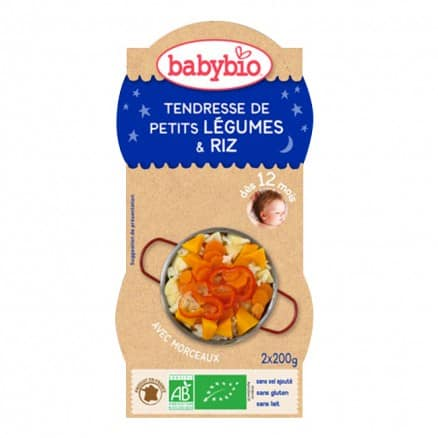 Bol Bonne Nuit Tendresse de Petits Légumes & Riz Babybio