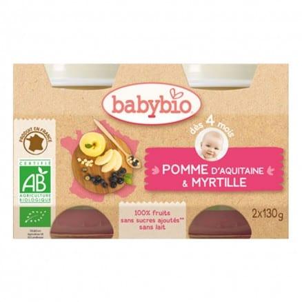 Petit pot bio Pomme myrtille Babybio