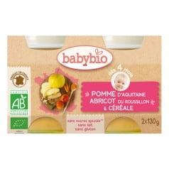 Petit pot bio Pommes abricots céréales