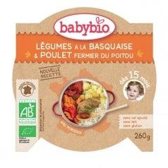 Assiette Légumes à la Basquaise et poulet fermier du Poitou