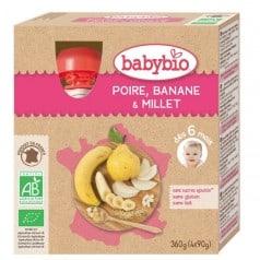 Gourdes Poire, banane et millet