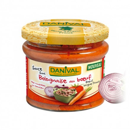 Sauce Bolognaise bio au boeuf Danival
