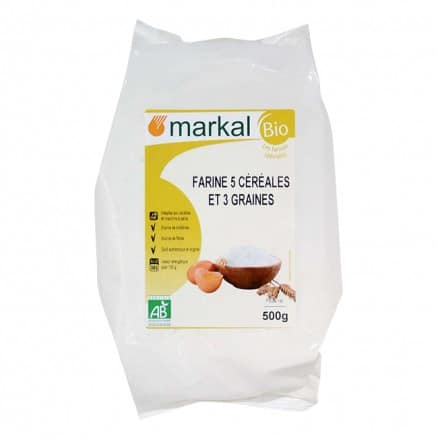 Farine 5 céréales et 3 graines 500 g Markal