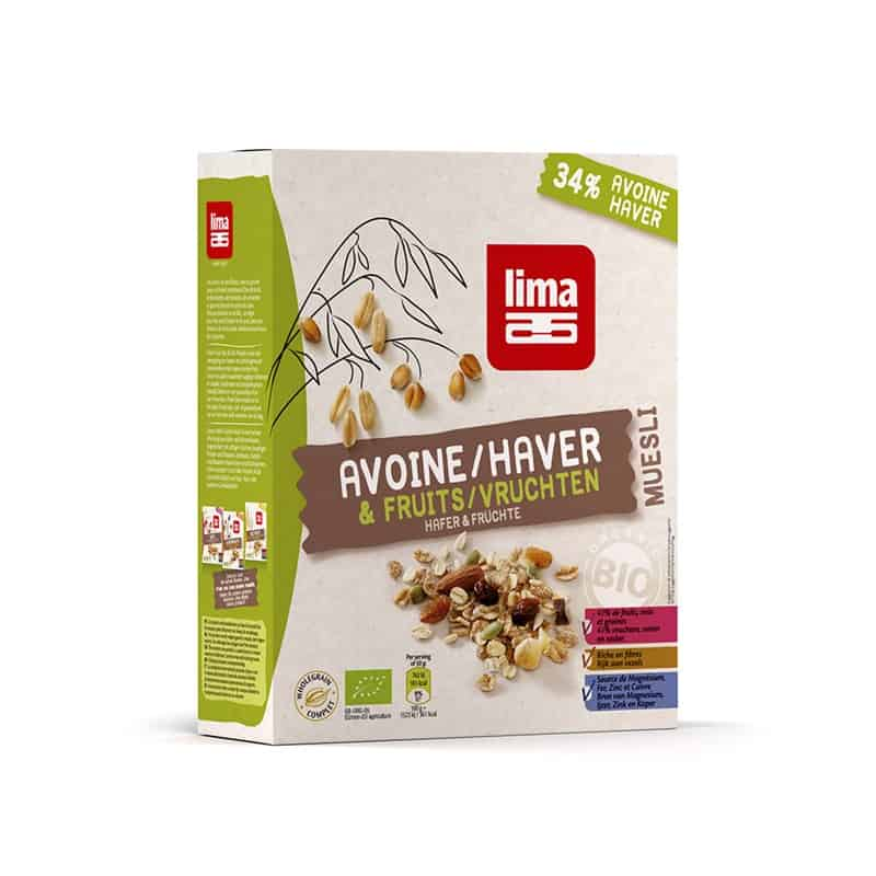 Muesli avoine et fruits 500 g lima for Ambiance cuisine avoine