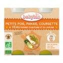 Petit pot Petits Pois, Panais, Courgette & Veau fermier Aquitaine & Limousin