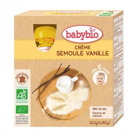 Gourdes bébé Crème Semoule Vanille 4x 85g