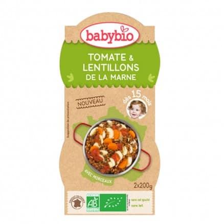 Bols bébé Tomate & Lentillons de la Marne 2x 200g
