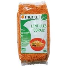 Lentilles corail de Markal