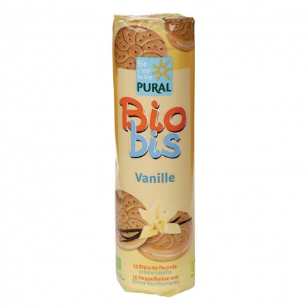 Biscuits fourrés crème vanille de Pural