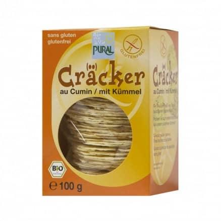 Cracker au cumin bio sans gluten de Pural
