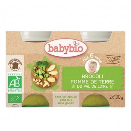 Babybio Petit pot Brocoli & Pomme de terre du Val de Loire 2x130 g