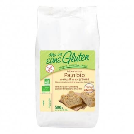 Préparation pour pain bio au millet et aux graines