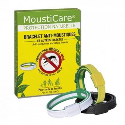 Bracelet anti-moustiques jaune vert