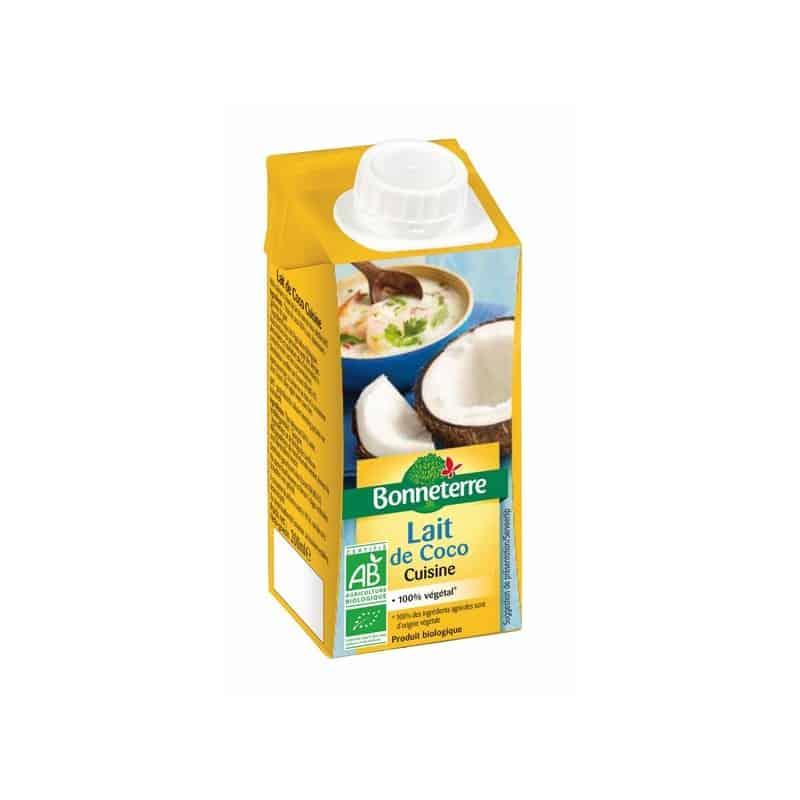 lait de coco cuisine 200 ml bonneterre