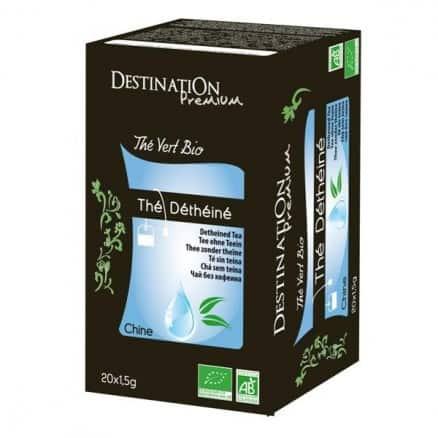 Destination Thé Vert Nature Déthéiné x20