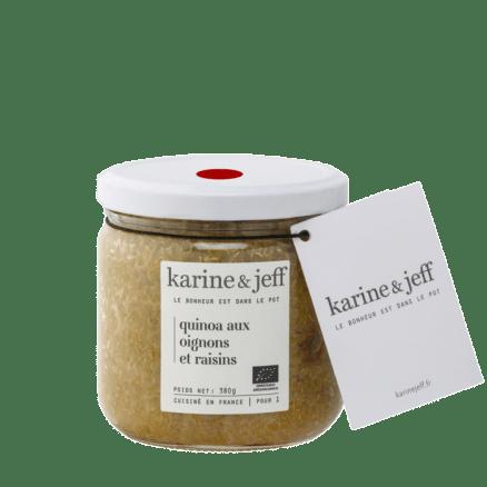 Karine & Jeff Quinoa aux Oignons & Raisins 380 g