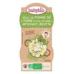 Bols bébé Purée de Pomme de Terre du Val de Loire & Artichaut 2x 200g