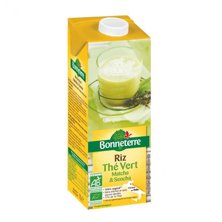 Bonneterre Boisson Riz Thé Vert Matcha & Sencha 1 L de Bonneterre