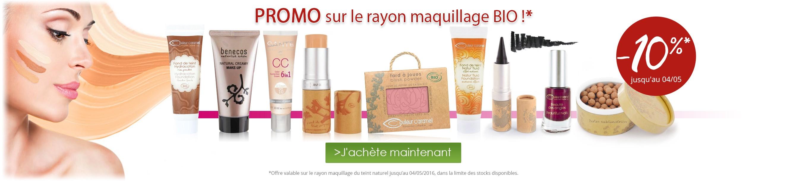 -10% de réduction sur le rayon Maquillage