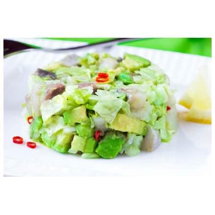 Salade avocat, sardines et chou chinois