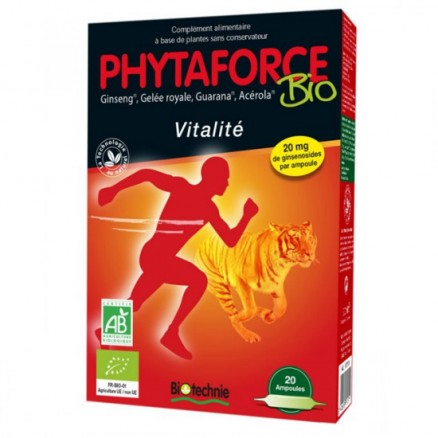 Phytaforce Ginseng, Gelée Royale, Guarana, Acérola